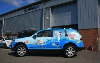 car-wrap-glass-branding-swim-kids