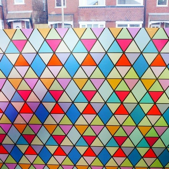 Decorative Geometric Window Film