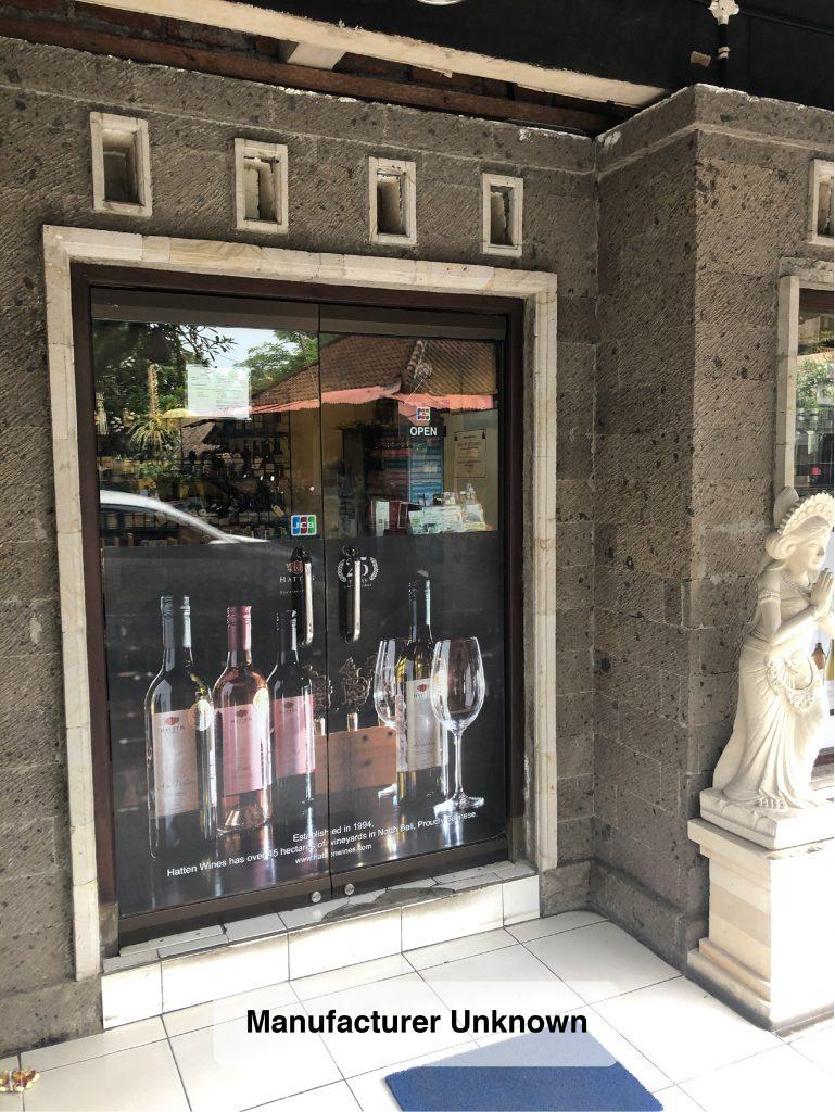 Retail Door Lower Panel Window Graphics Bali MU Portrait 01