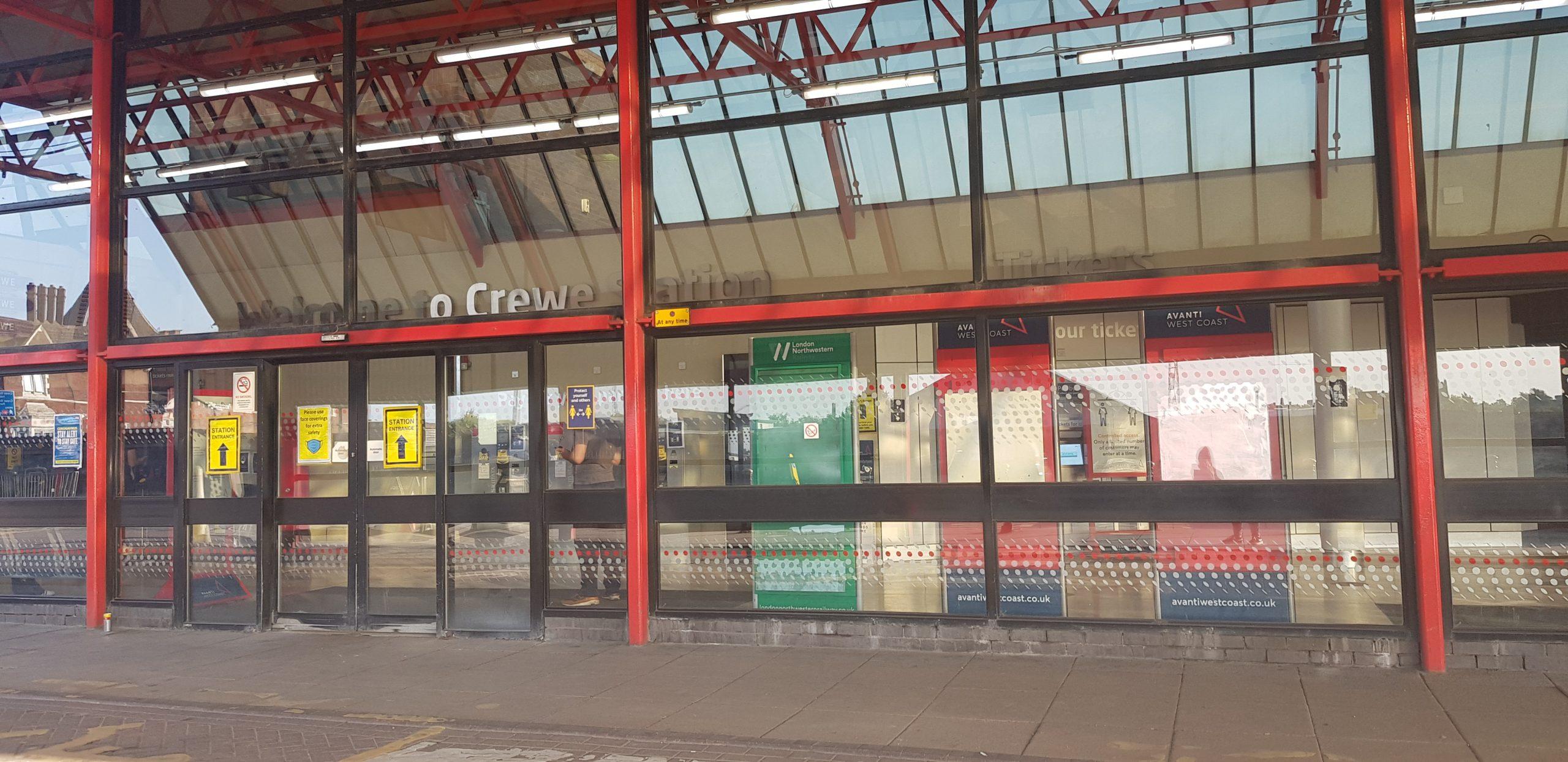 Crewe Train Station Front Entrance (Original)