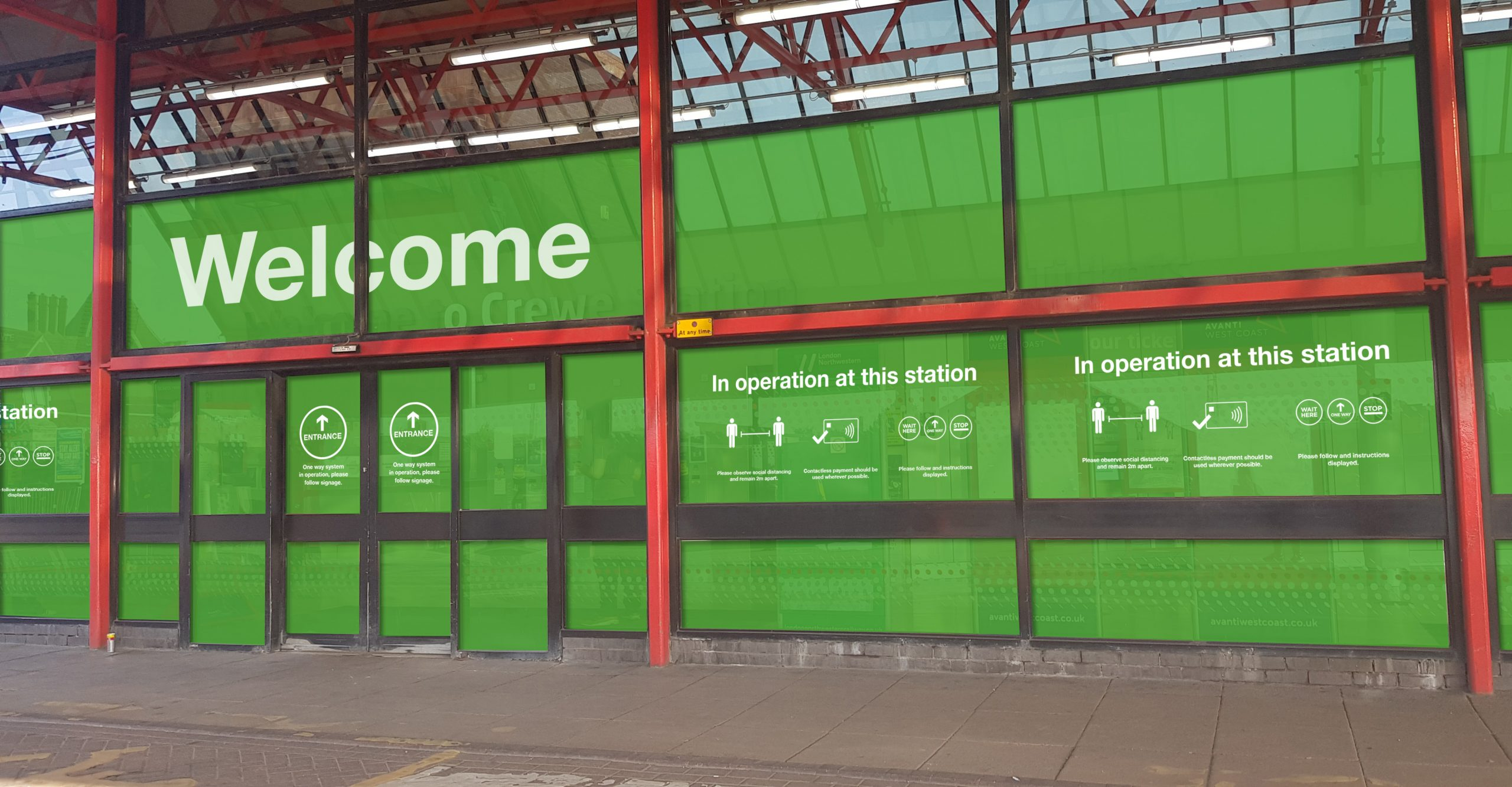 Crewe Train Station Front Entrance (Visual)