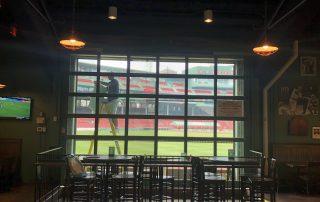 Bleacher Bar Boston Usa Perforated Window Film