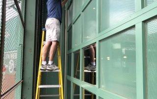 Bleacher Bar Boston Usa Perforated Window Film Installation