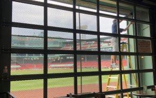 Bleacher Bar Boston Usa See Through Window Graphics