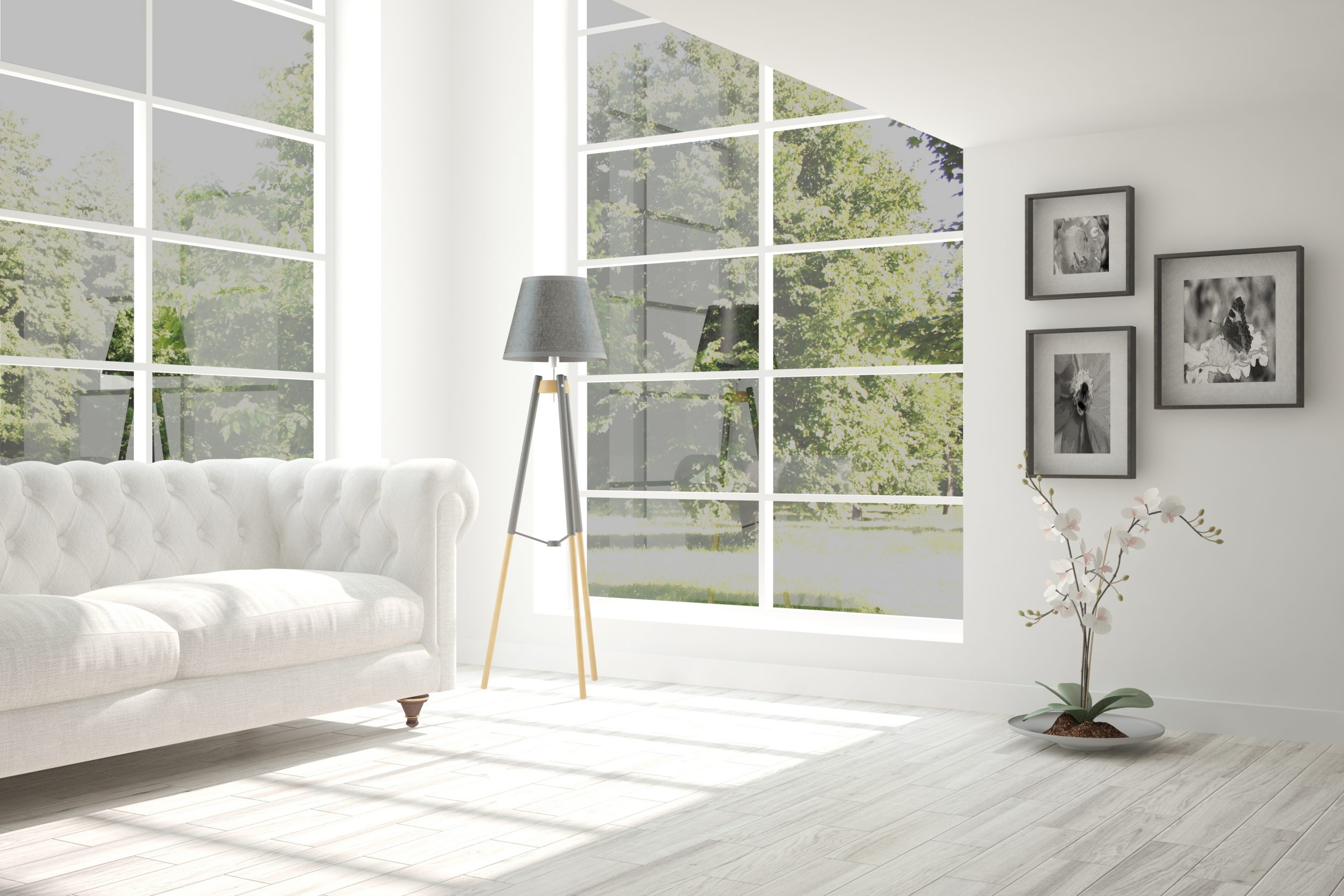 White One Way Vision Privacy Window Film