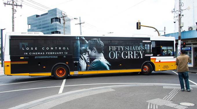 50 Shades Promotional Bus Wrap
