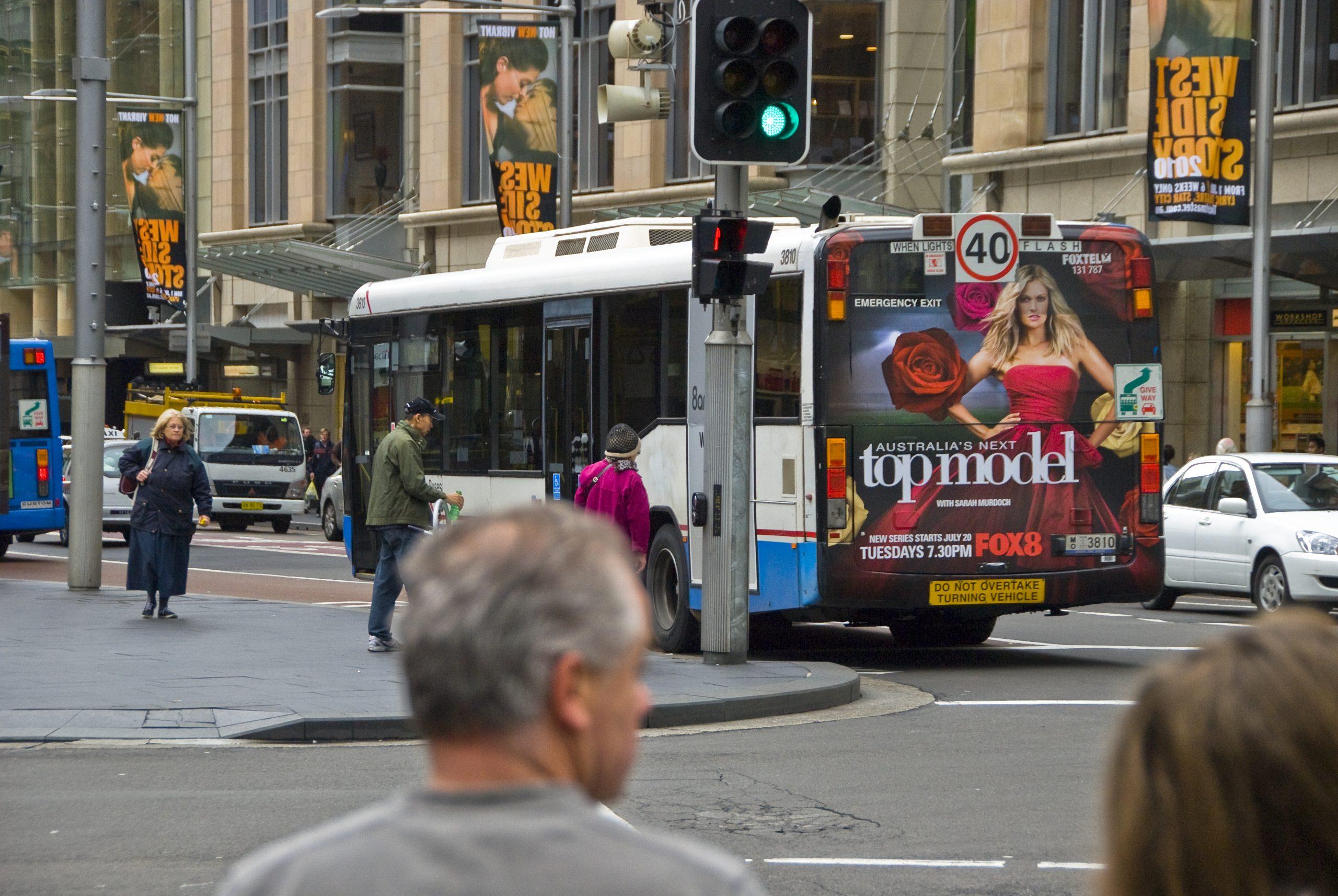 Australias Next Top Model Bus Back Window Advertisement