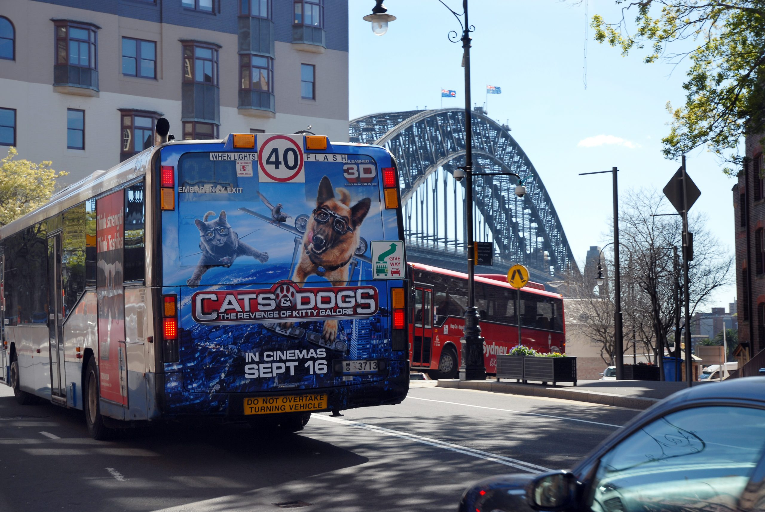 Bus Back Window Advertisement