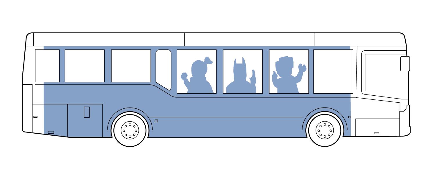 Contour Cut Bus Graphic 01