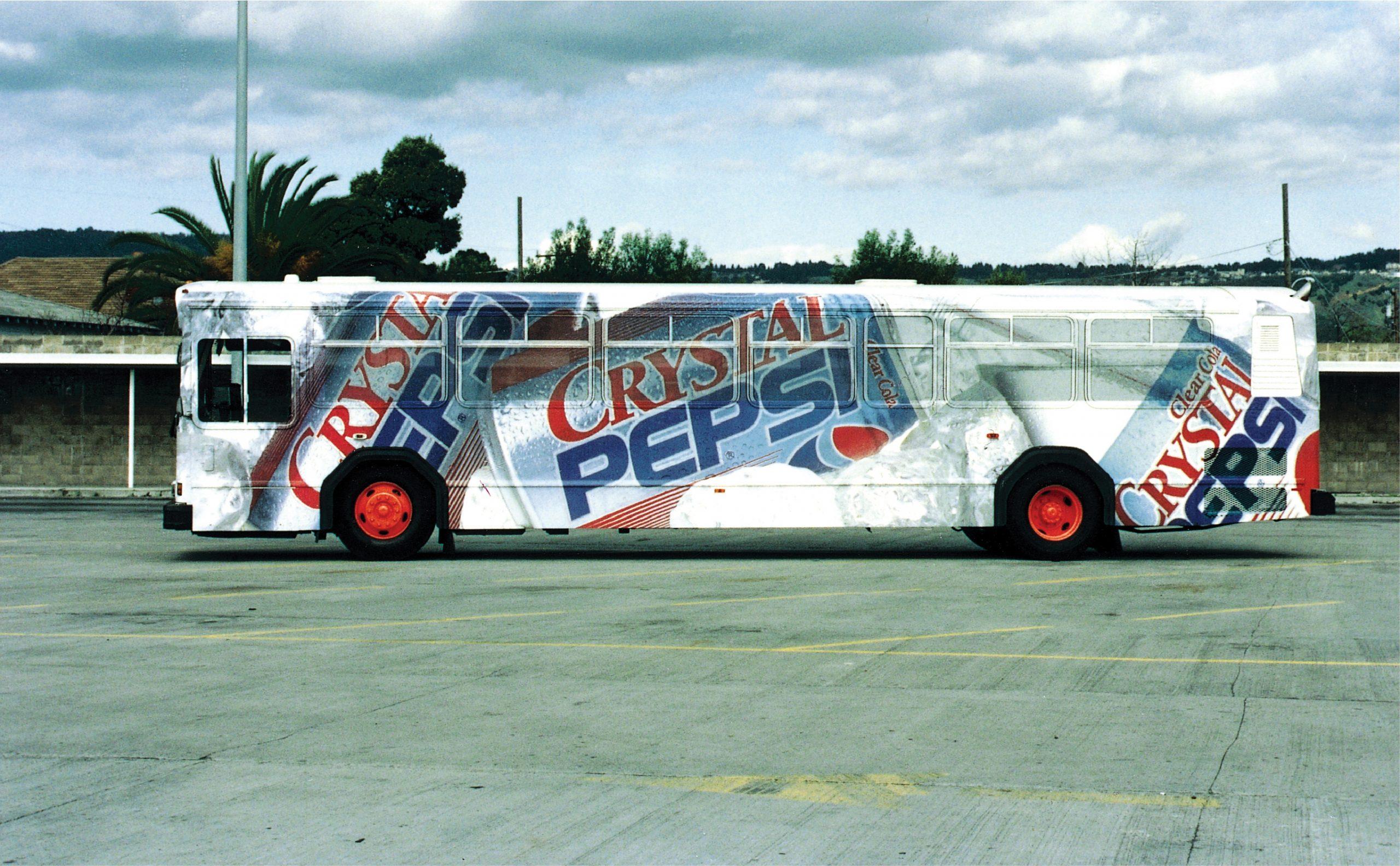 Crystal Pepsi Bus Wrap