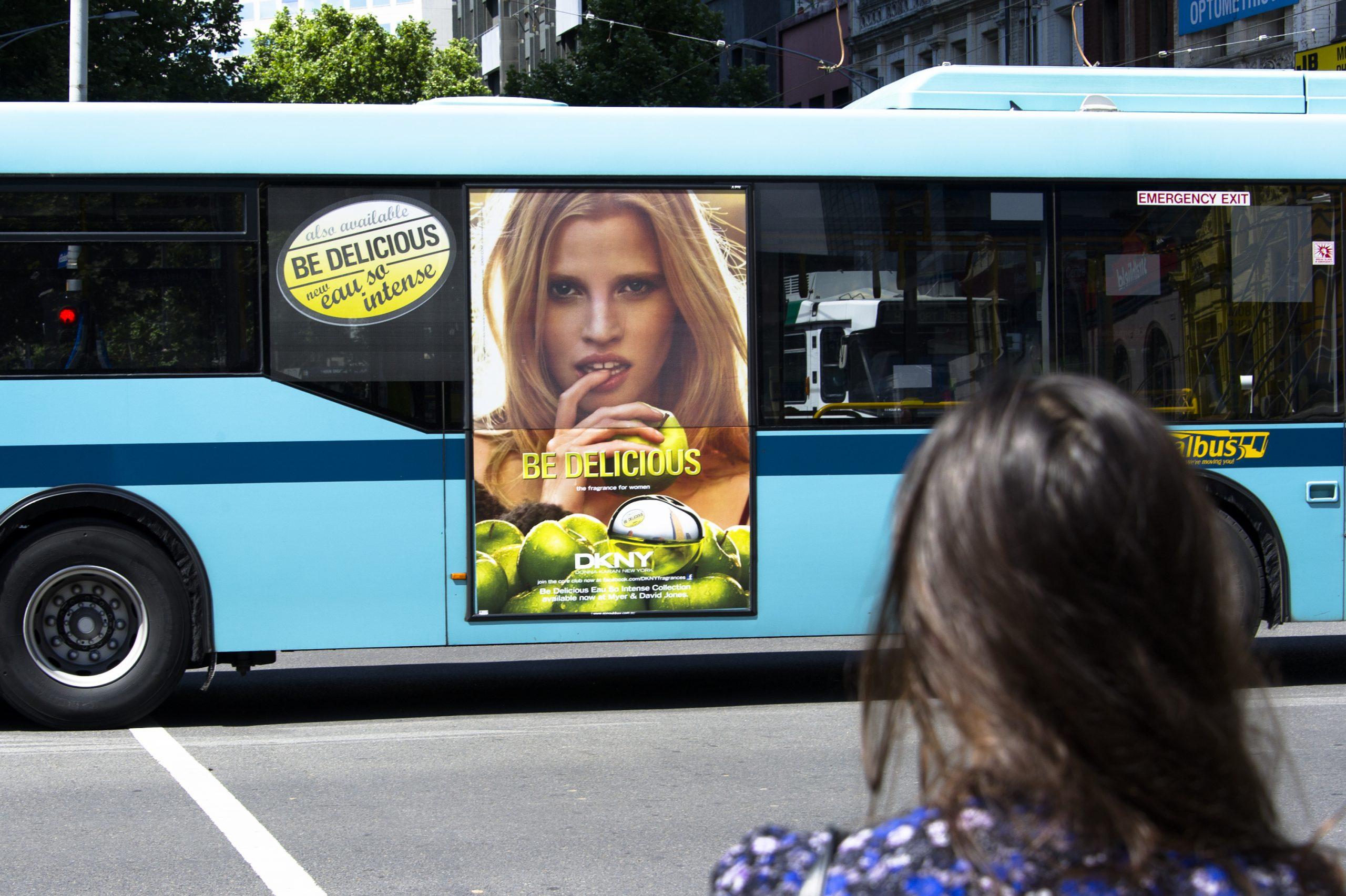 DKNY Portrait Bus Graphic Using Window Perf