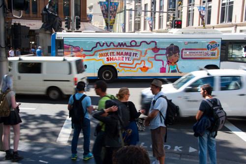 Fanta Mega Side Bus Wrap Covering Windows