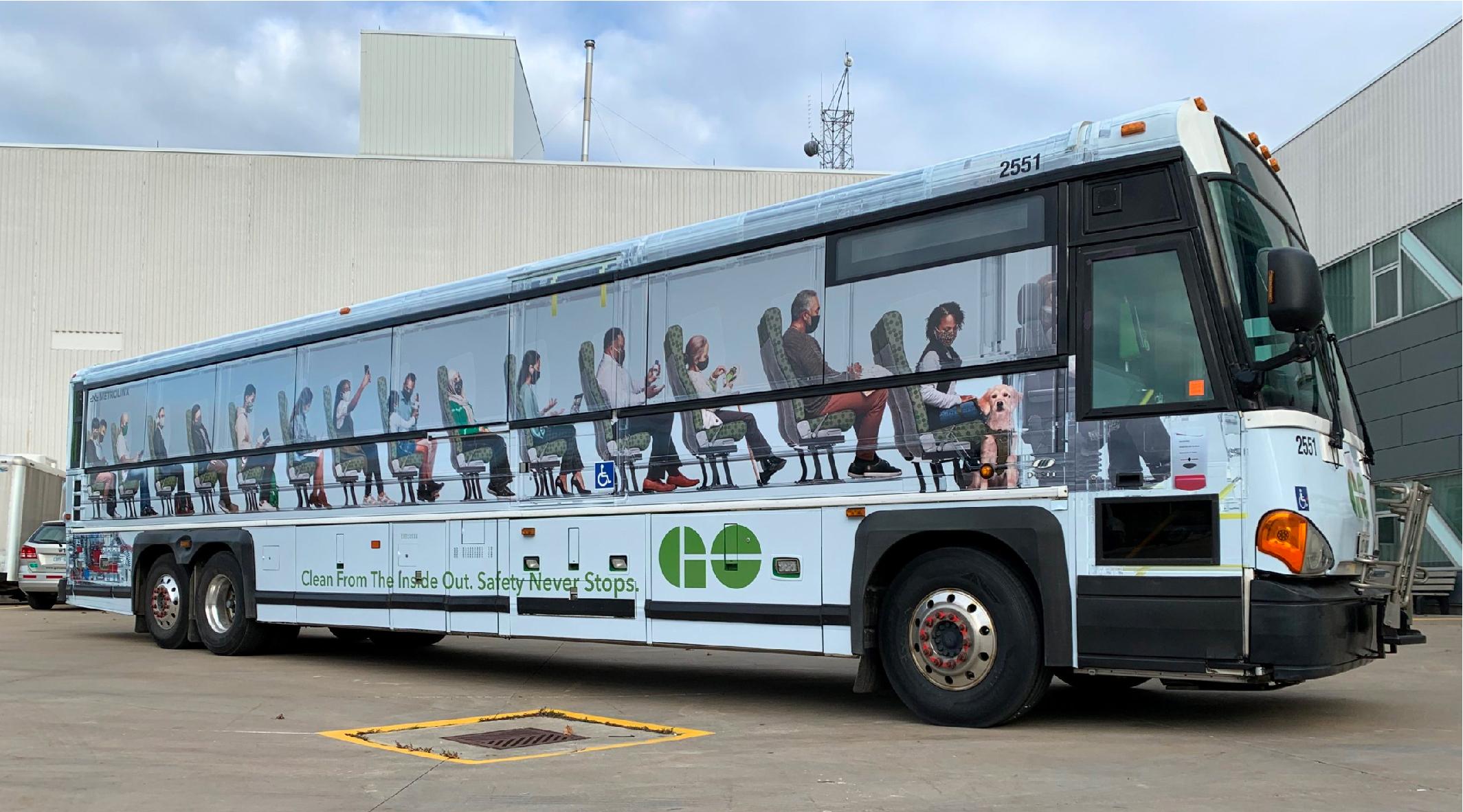GO Transit Bus Wrap