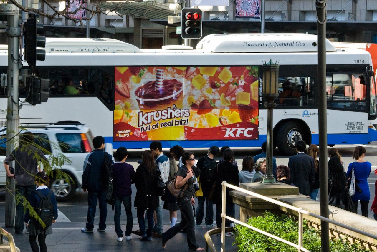 KFC Ultra Super King Bus Wrap