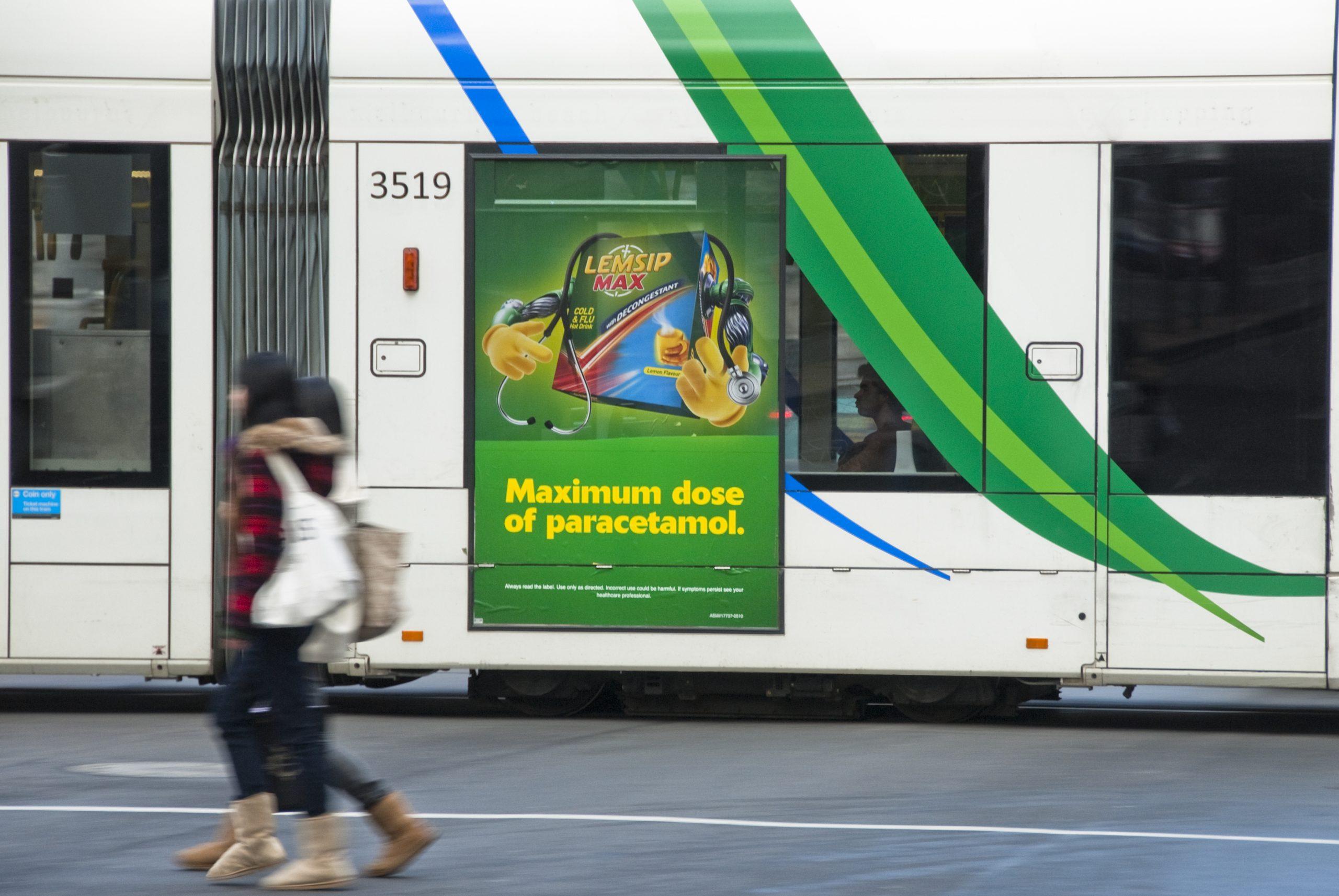 Lemsip Contra Vision Tram Window Wrap