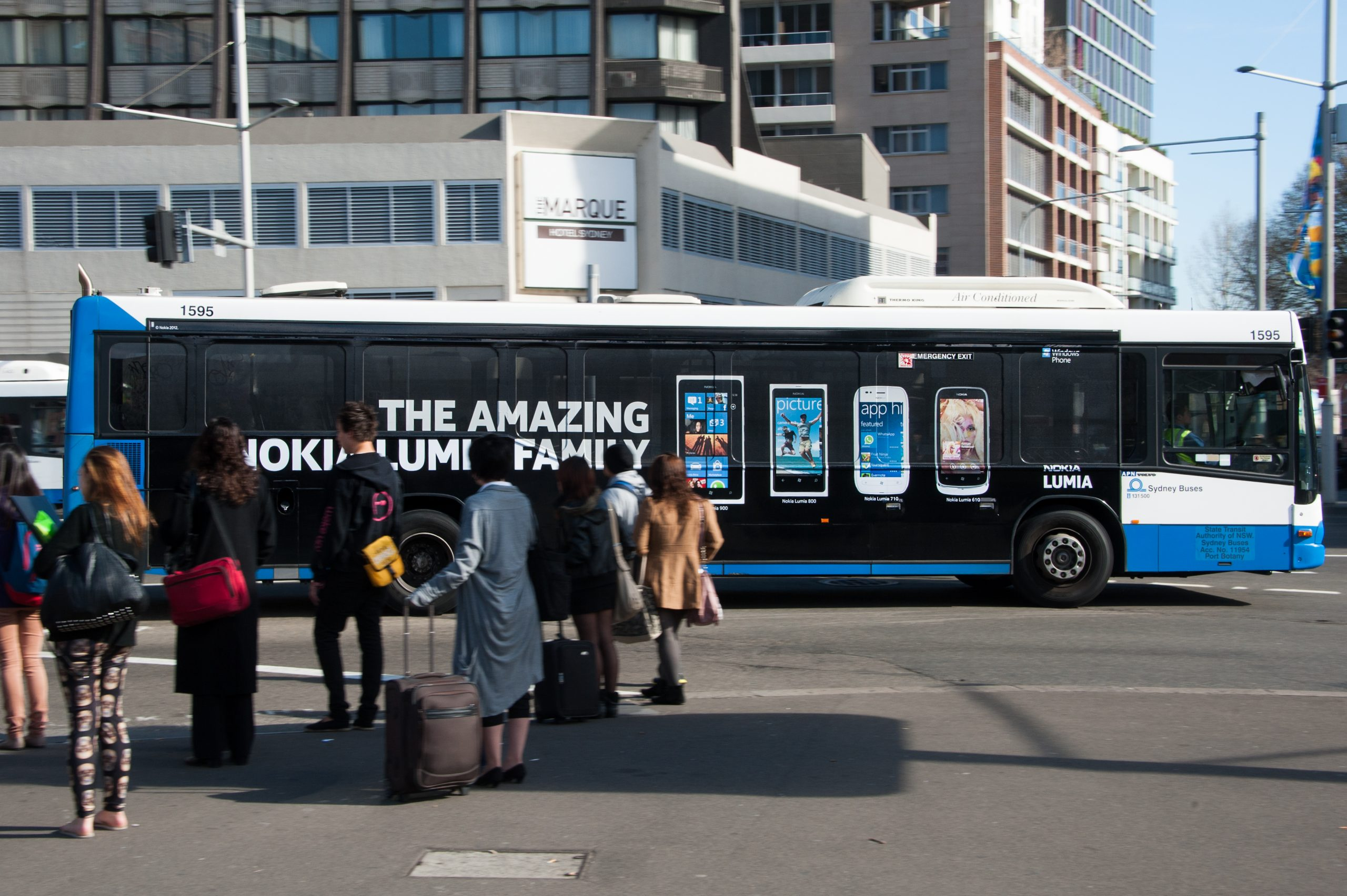 Nokia Full Side Bus Wrap With One Way Vision