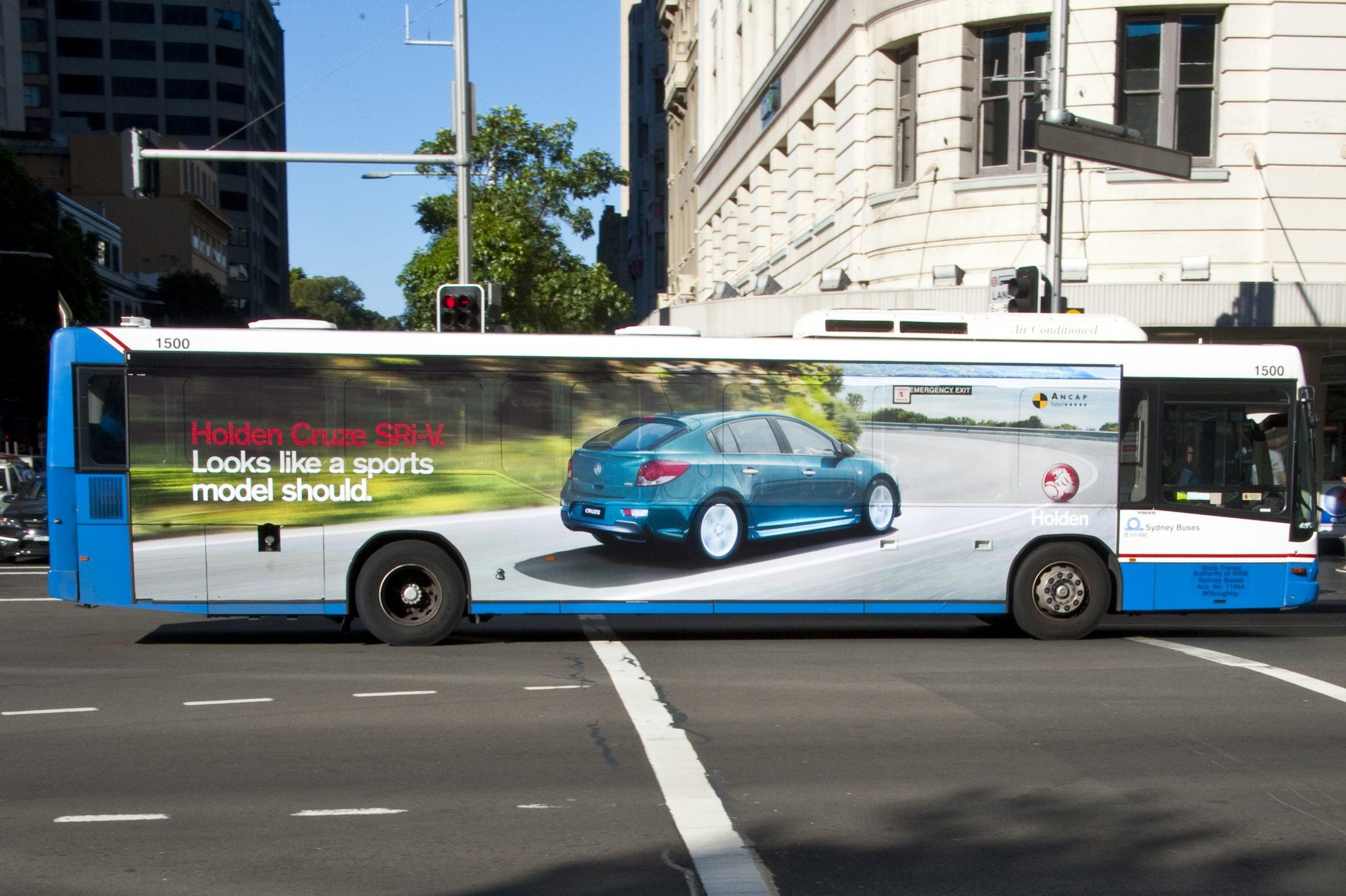 Roadside Giant Transit Advert On Bus