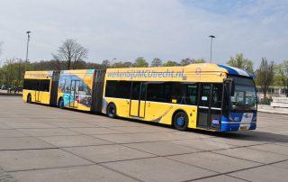University Of Utrecht Bus Branding Perforated Window Film
