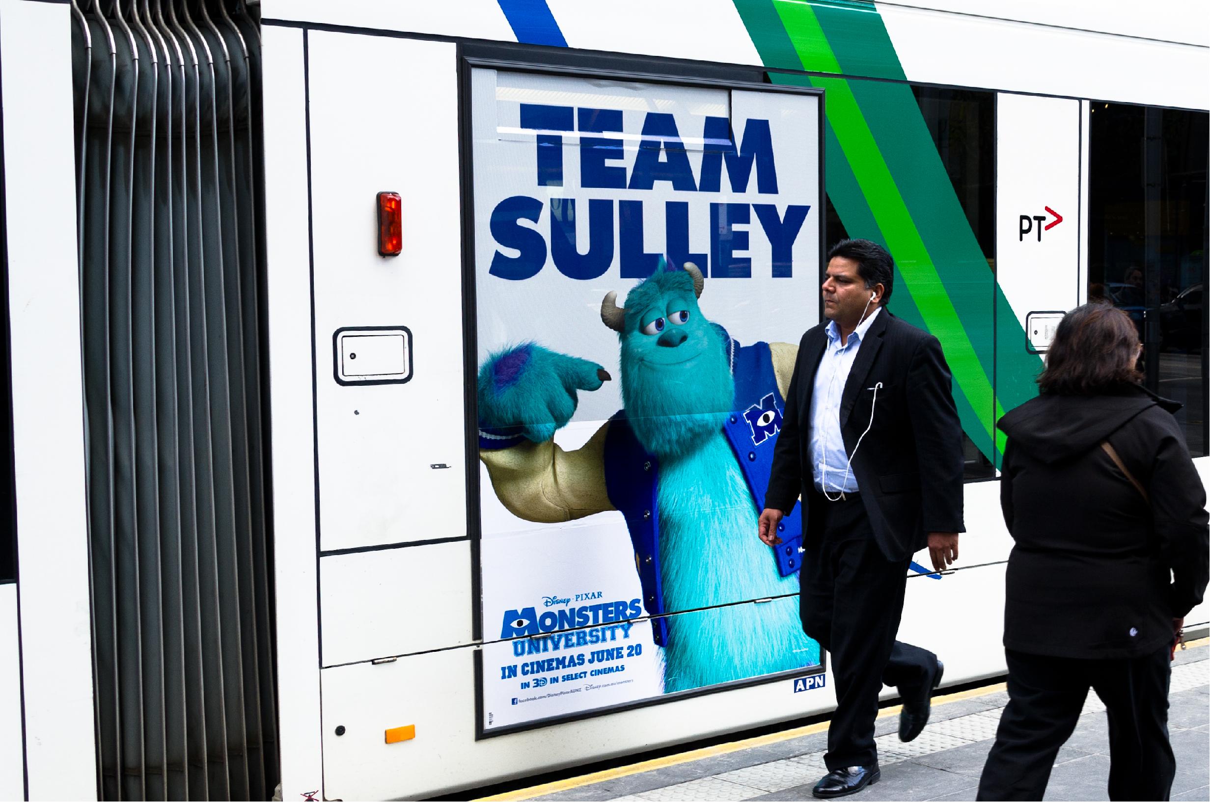 Monsters Inc Portrait Bus Wrap