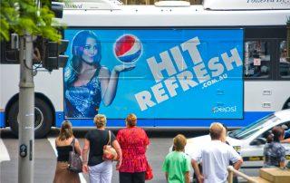 Pepsi Billboard Bus Wrap