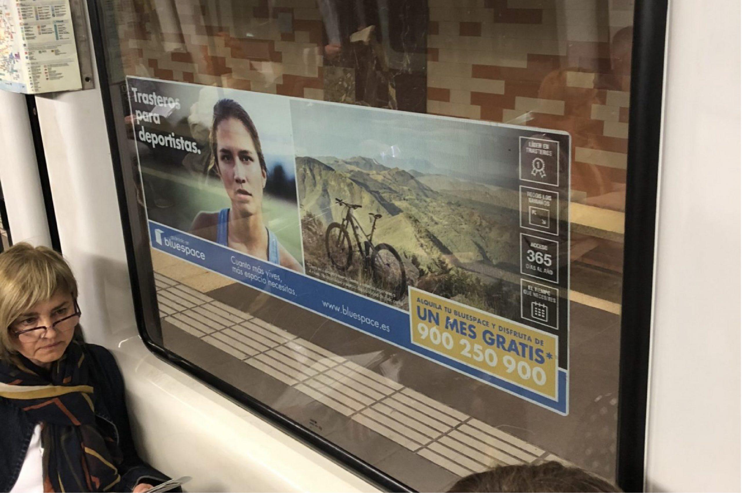 Underground Train Inside Window Poster 01