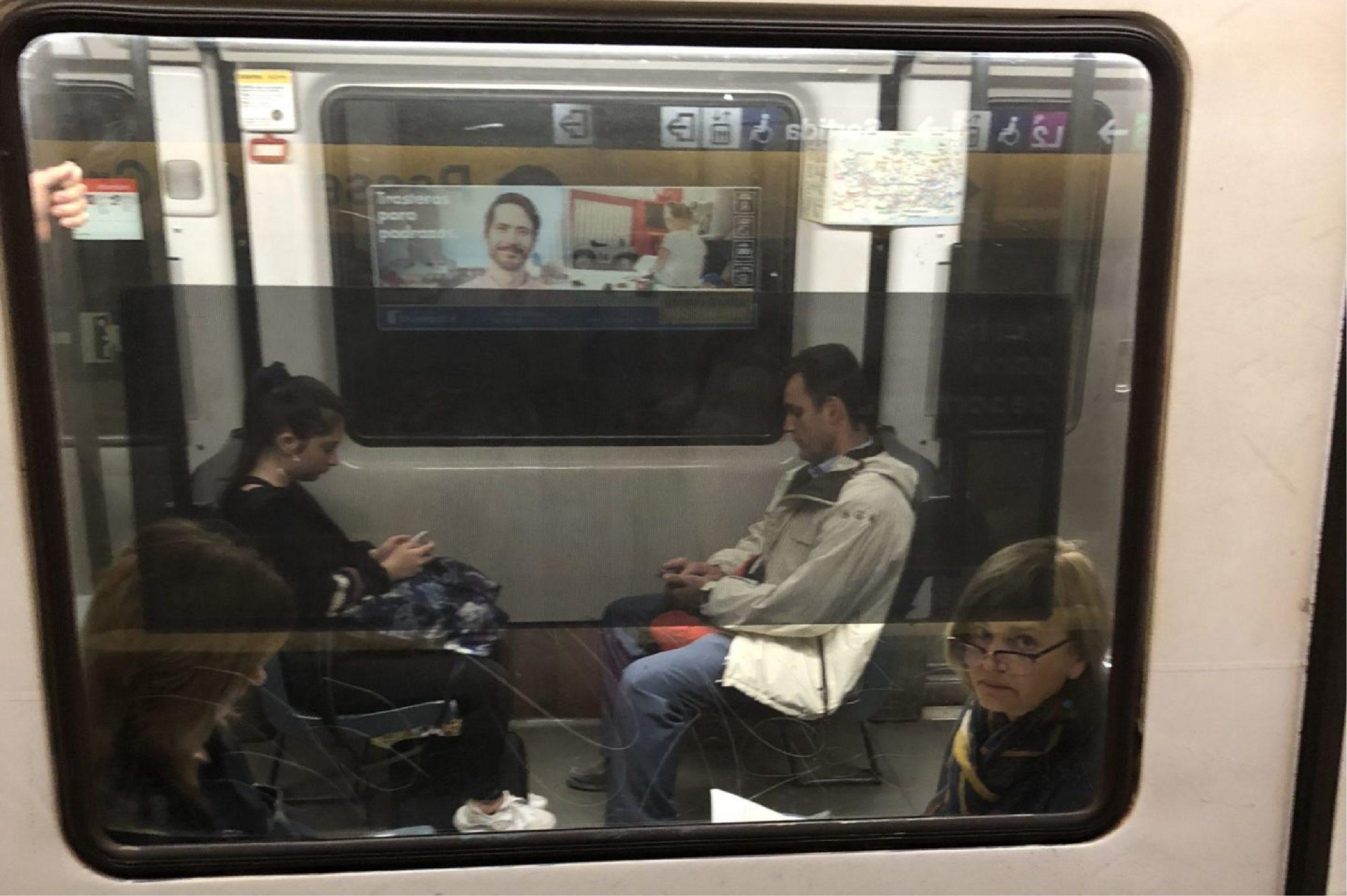 Underground Train Outside Window Poster