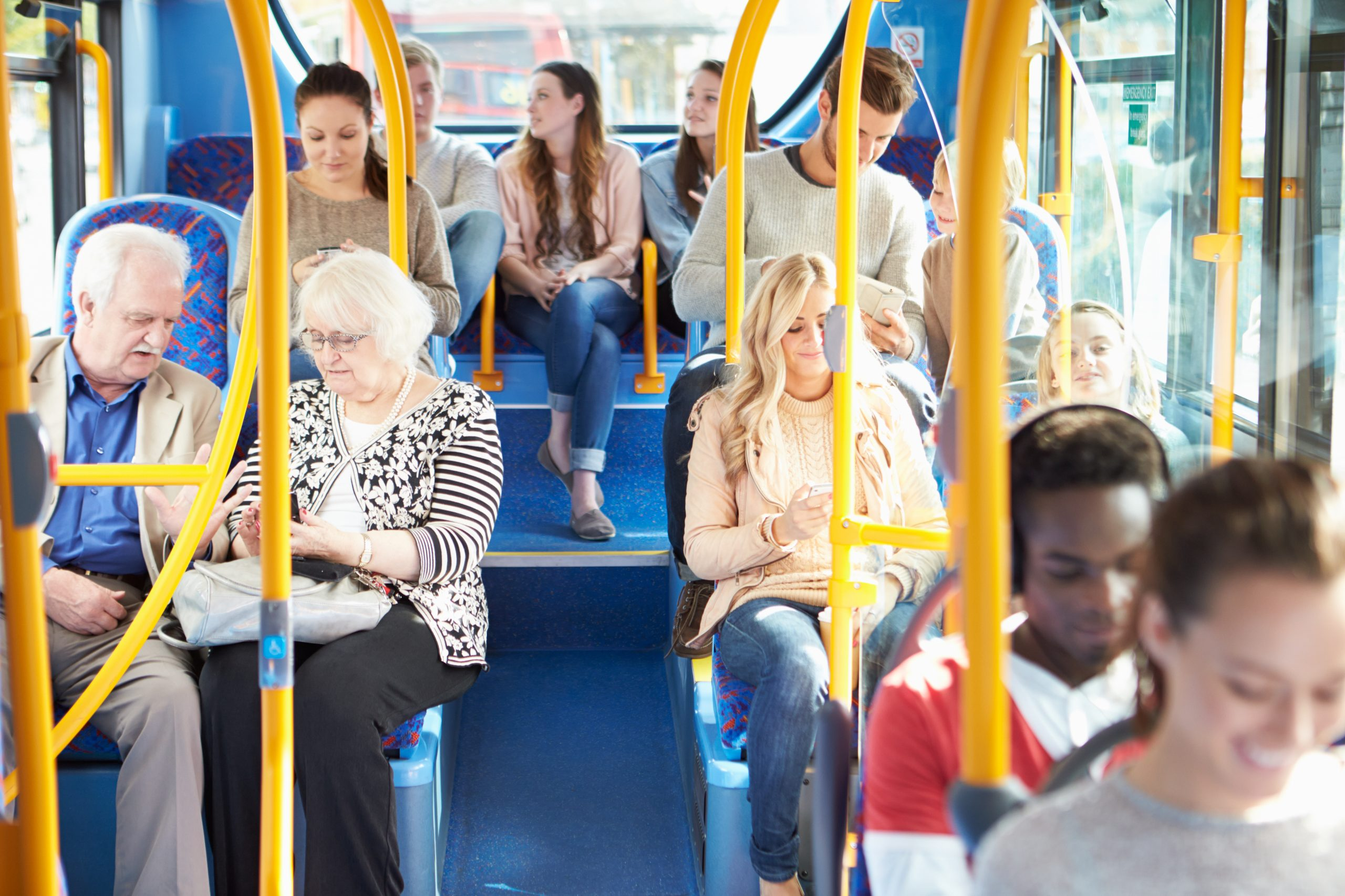 Interior,Of,Bus,With,Passengers