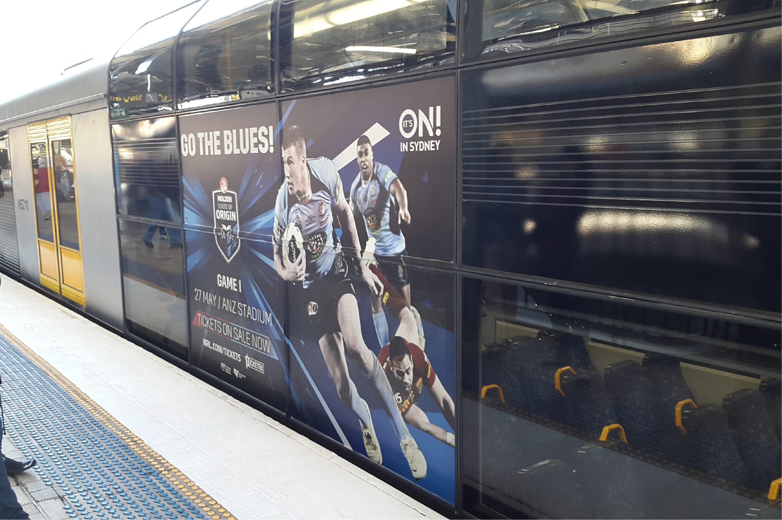Sydney Train Wrap With Perf