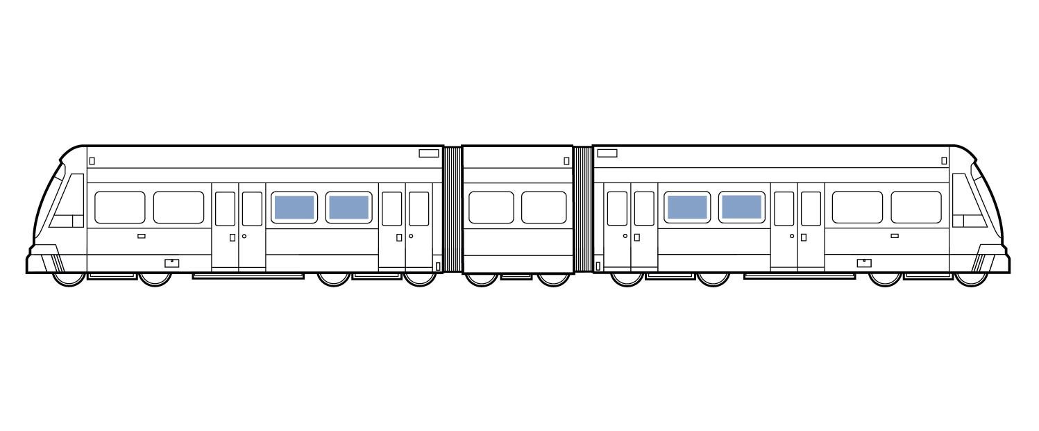 Train Wrap Inside Window