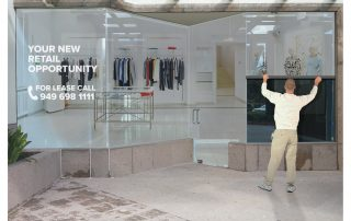 Perforated Window Film for empty retail units