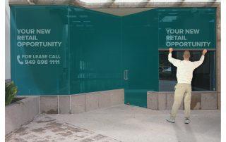 Contra Vision Empty Retail Units
