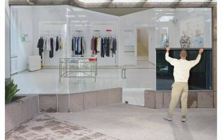 One-way window film for commercial empty retail units