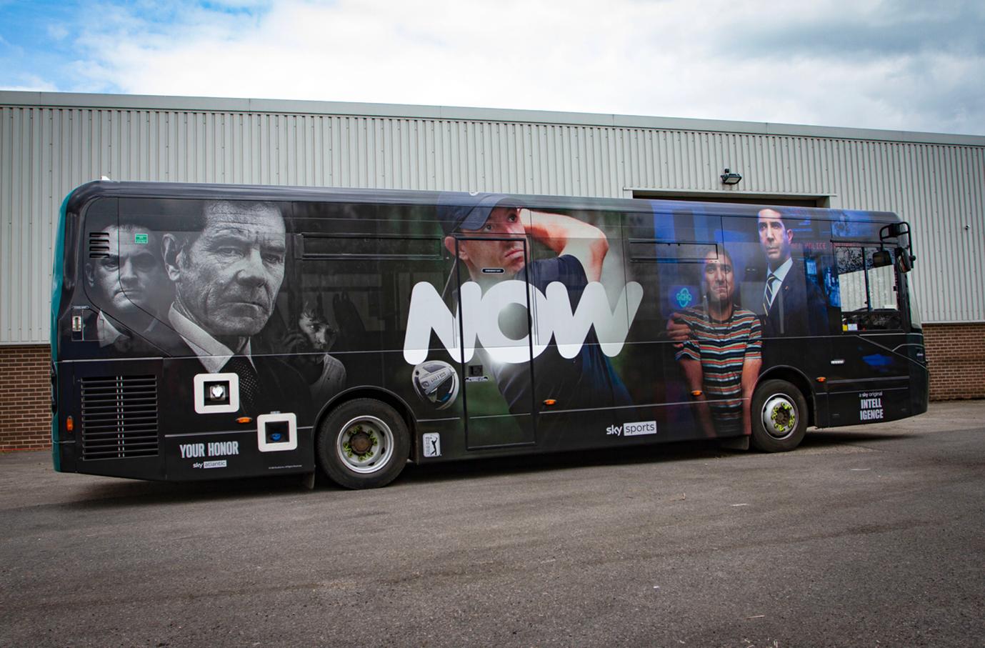VGL Sky Now Bus Wrap