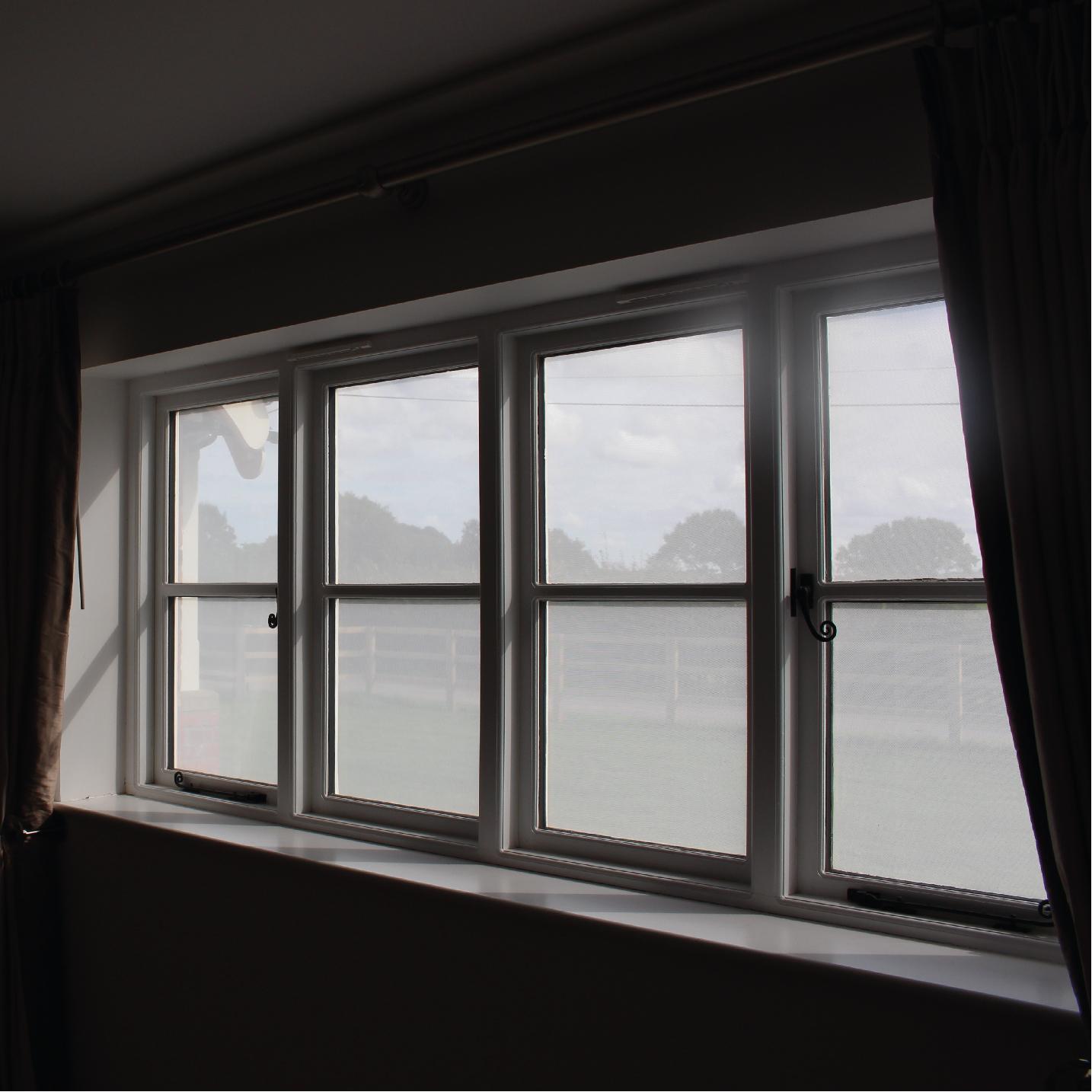 White On Black Nighttime Privacy Window Film 01