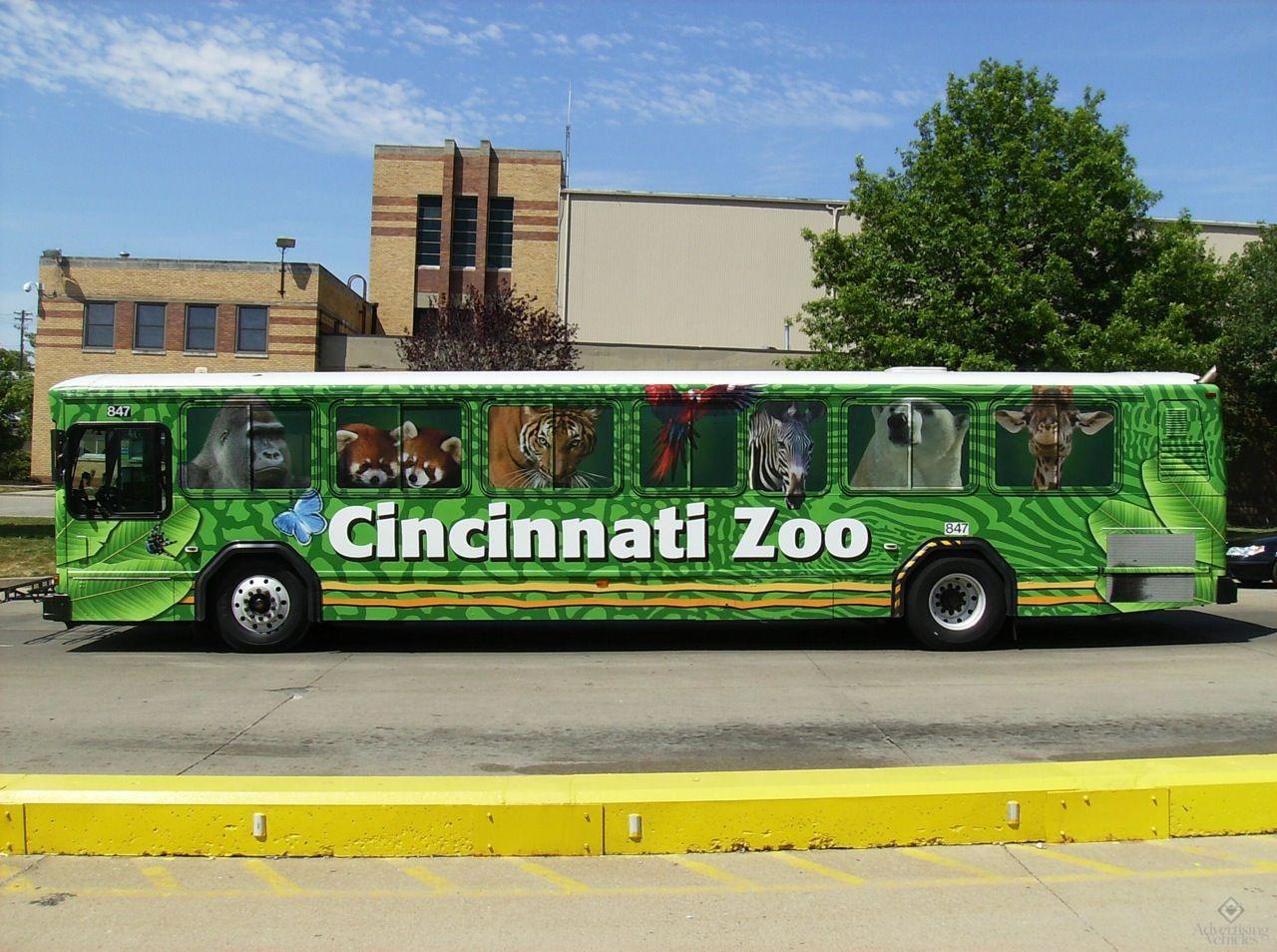 Cincinnati Zoo Bus Wrap