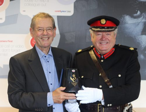 Deputy Lieutenant of Greater Manchester presents Contra Vision with third Queen's Award