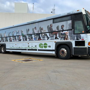Safety never stops | GO Transit bus wrap