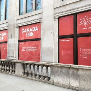 Window Graphics Canada House, London