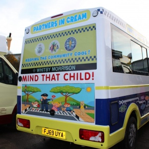 Whitby Morrison Ice Cream Van for Children in Need