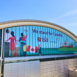 Building Wrap Toronto Pearson Airport