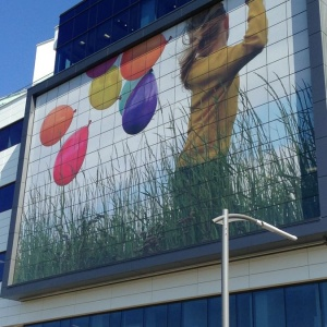 Building Wrap Montreal Hospital