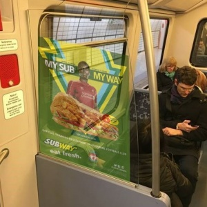 Tram Advertising | Inside Partition